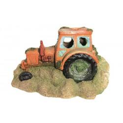 Vrak traktor 15cm - akva. dekorácia