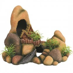 Kamene s chatkou 20cm - akva. dekorácia
