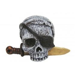 Lebka piráta 6cm - akva. dekorácia