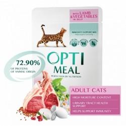OPTIMEAL cat jahňa/zelenin v želé 85g