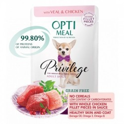 OPTIMEAL dog teľa/kura v omáčke 85g